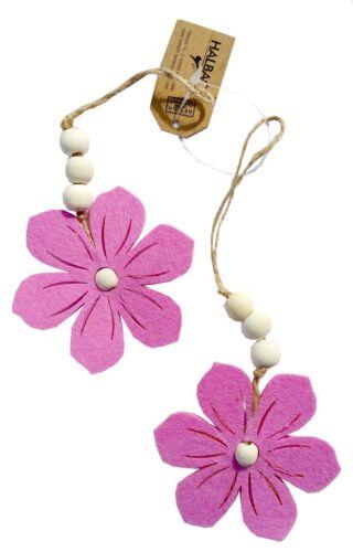 2er Set FILZBLÜTEN zum Hängen BLÜTEN Filzhänger FILZBLUME Filz Aufhänger Blume