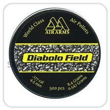 Air Arms Diabolo Field .177 (4.52mm) ~Tin of 500 Pellets for Air Gun Rifle Pisto