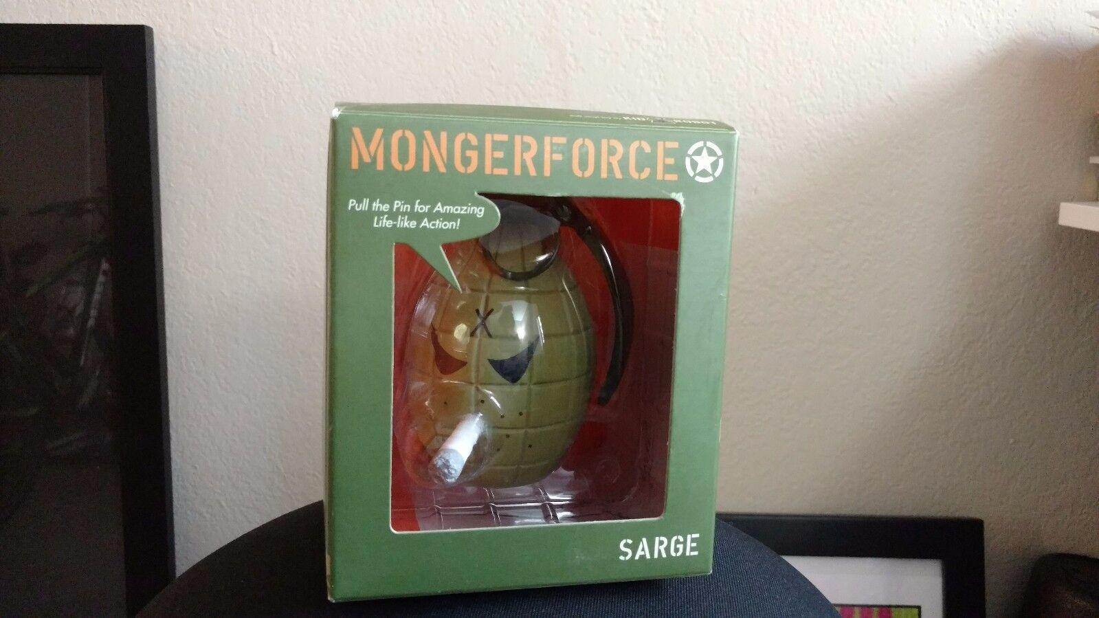Frank Kozik SIGNED Kidrobot 5  Green Grenade Sarge Monger AUTOGRAPHED