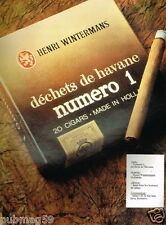 Publicité advertising 1979 Les Cigares Henri Wintermans