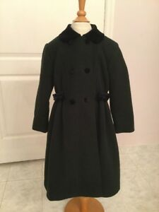 be3c5602c1c3 Rothschild Navy Wool Coat w  Velvet Collar Fully Lined Girl s Size 5 ...