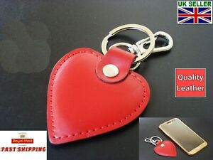 Fabulous-Love-Heart-Leather-Charm-Keyring-Keychain-Fob-Red-Bag-Pendant