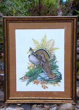 "Woodlot Feeding Pheasants  By Richard Plasschaert  Farm Scene  Print   10/"" x 7/"""