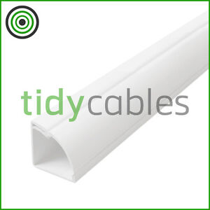 D-Line-22x22-Quadrant-TV-Floor-Cable-Tidy-Cover-Wire-Trunking-1m-1-25m-1-5m