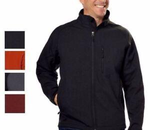 Kirkland-Signature-Men-039-s-Full-Zip-Soft-Shell-4-Way-Stretch-Windproof-Jacket