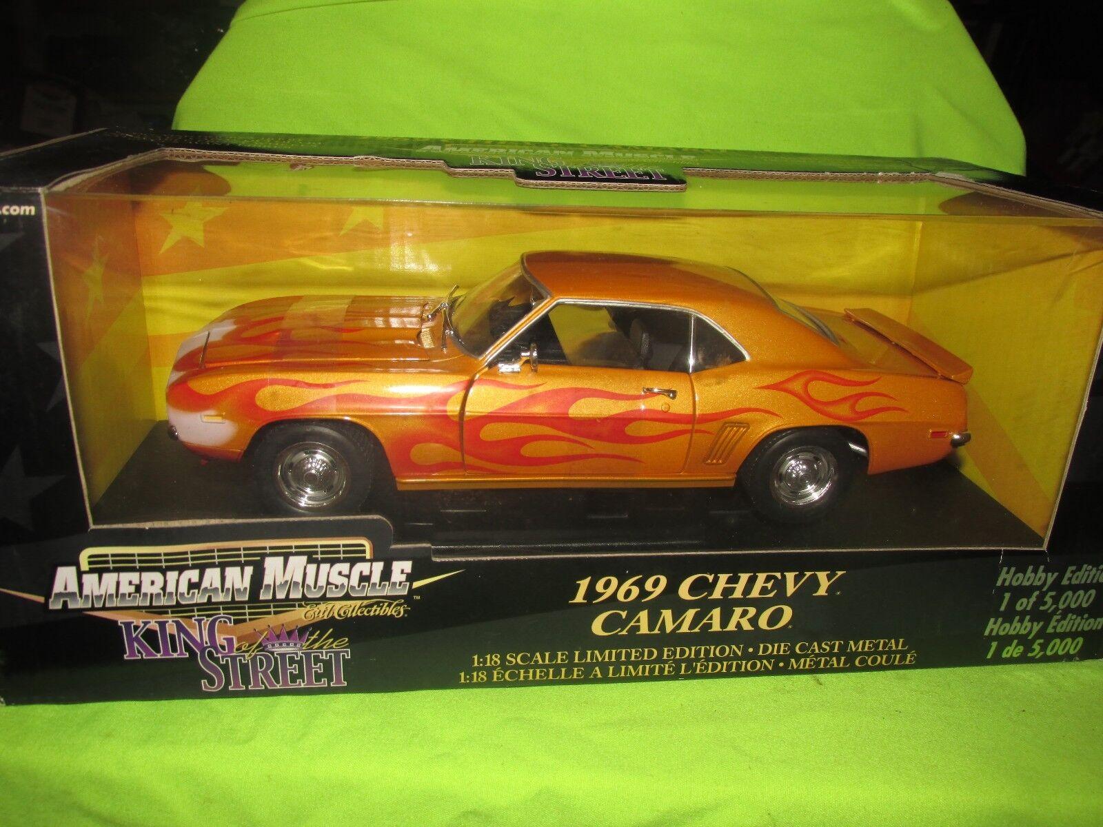 1969 Chevrolet Camaro 69 Roi de Rue Personnalisé  1 18 Hobby American Muscle Ertl  marques de créateurs bon marché
