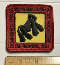 Mountain Gorilla Endangered Special National Zoo Washington DC Souvenir Patch