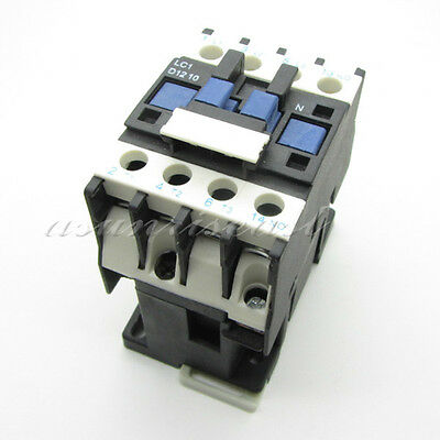 AC Contactor AC220V Coil 12A 3 Pole Phase NO Normal Open +1 NO Switch CJX2-D1210