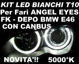Canbus LED W5W White Lights Angel Eyes BMW E46 Depo FK