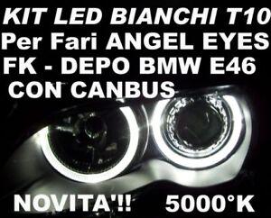 CANBUS-LED-W5W-BIANCHI-fari-ANGEL-EYES-BMW-E46-DEPO-FK