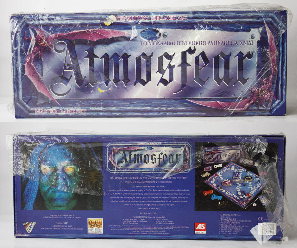 ULTRA RARE VINTAGE 1991 ATMOSFEAR VIDEO BOARD GAME GREEK EDITION NEW NOS