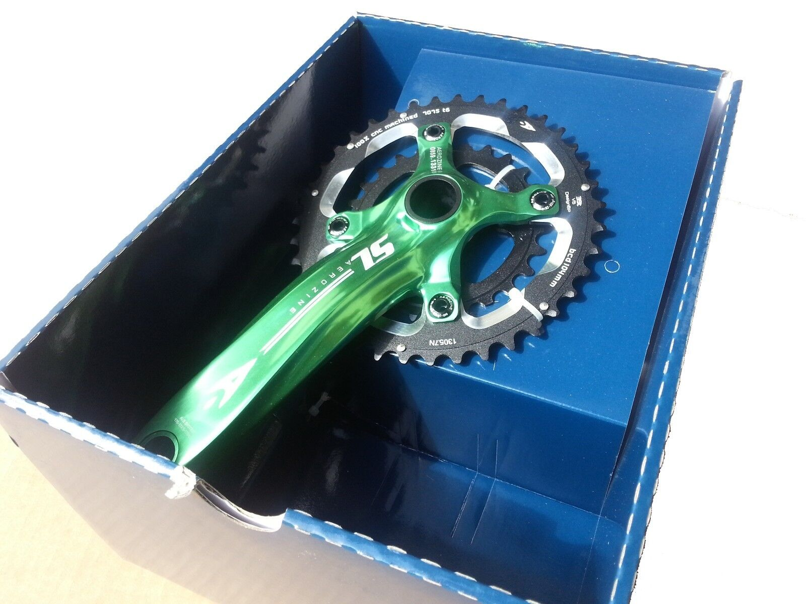 Aerozine Mountain Bike Crankset Double 39 26 170mm 175mm X12SL A2D 2x10 GREEN