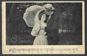 1908 PPC* Song Photo Dreaming Of You Always Mint