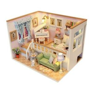 3D-Wooden-Craft-Doll-House-Furniture-DIY-Miniature-Dust-Cover-Dollhouse-Toy-R1BO