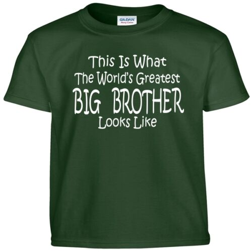 Worlds Greatest BIG BROTHER Birthday Gift Boys Youth Kids and Adult Tee T Shirt