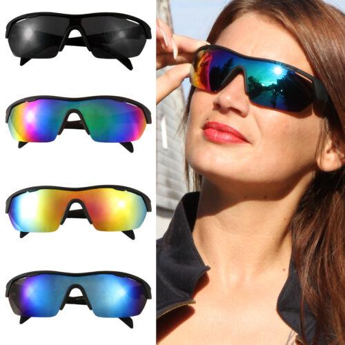 Gafas de sol gafas deportivas Deportes rueda gafas arco iris efecto espejo multicolor ski nuevo