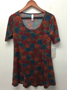 LuLaRoe-Multicolored-Classic-Scoop-Women-039-s-Stretch-T-Shirt-Top-Soft-Blend-floral