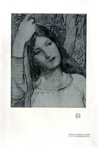 From-a-Charcoal-Study-by-John-William-Waterhouse-R-A-Kunstdruck-von-1908