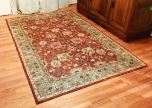 Details About 5 X 8 Pottery Barn Brick Red Blaine Traditional Hand Tufted 100 Wool Rug