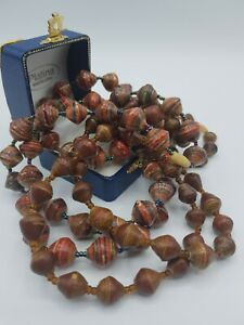 vintage-rolled-paper-bead-long-necklace-set-of-2-multi-coloured-large-60-039-s