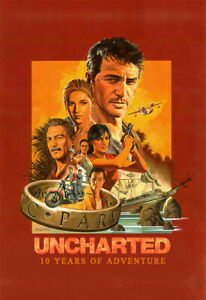 Uncharted 4 Poster 10th Anniversary Key Art Game Wallpaper