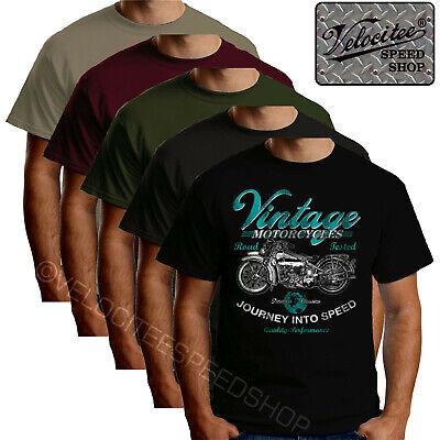 Velocitee Speed Shop Mens Polo Shirt USA Classic Motorcycle /& Eagle Biker A00237