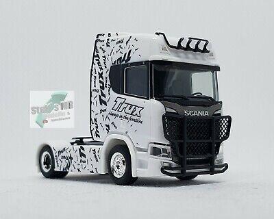 Herpa 310734 Scania CR 20 HD Zugmaschine mit Trux Rammschutz 1:87 Eigenbau geeig