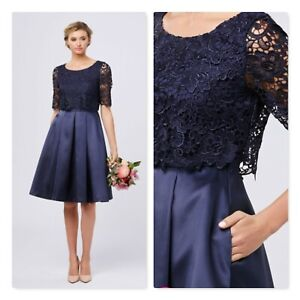 REVIEW Womens Size 10 Navy Atalia Bridesmaid Cocktail Dress RRP $299.99
