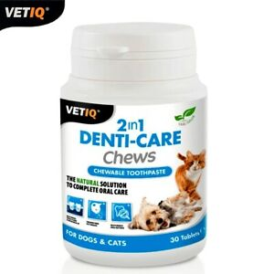 VetIQ-2in1-Denti-Soins-Chews-Oral-Health-amp-Hygiene-Solution-For-Cats-Dogs-30tabs