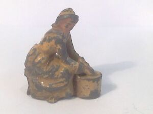 Britains milkmaid sitting on stool with milking pail ref gr 289 ebay