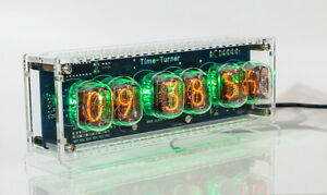 Details about Nixie Tube Clock with 6x IN-12 unique vintage steampunk watch
