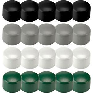 Lot de 100 embouts ronds 22mm pour chaises bouchons noirs PVC enveloppant