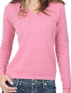 100Cashmere Tweelaags Roze Damessweater V hals S Balldiri sQdrthC