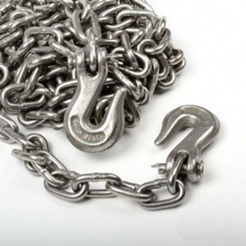 5 16  x 14 Foot Steel Metal Vehicle Tow Towing Chain with Hooks for Emergency