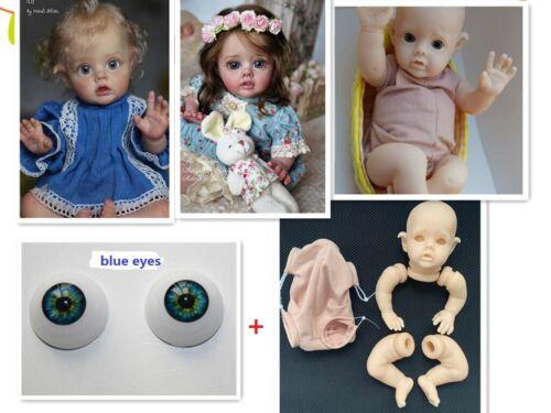 Blank Reborn Doll Kits 12in FLO Silicone Model Sets Eyes Body DIY Baby Dolls Toy