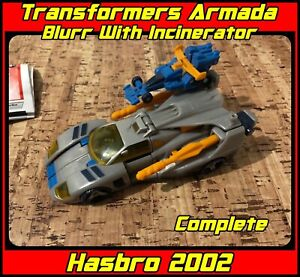 Transformers Armada Blurr Action Figure With Incinerator Hasbro 2002 Complete