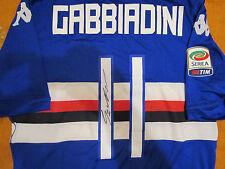 Maglia Calcio Autografata Gabbiadini Sampdoria Preparata