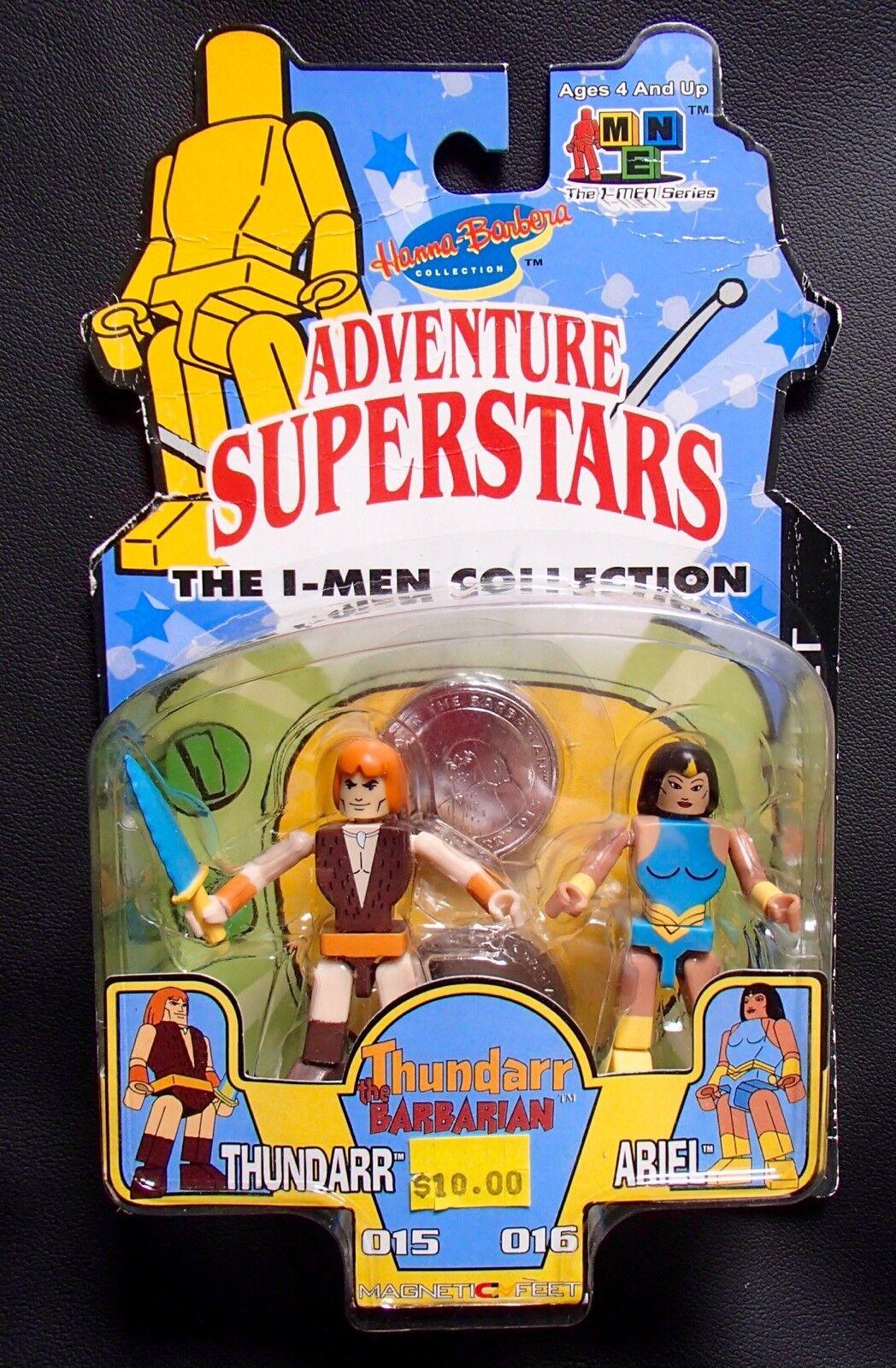 THUNDARR & ARIEL I-MEN Collection Figures MINIMATES size Hanna Barbera toy MOC