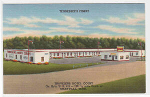 Postcard MARYVILLE Tennessee/TN Travelers Tourist Motel