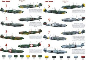 Messerschmitt-BF109E-Euro-Decals-in-1-72-amp-1-48scale