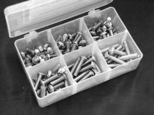 Schrauben Box  Linsenschraube<wbr/>n M5 aus Edelstahl
