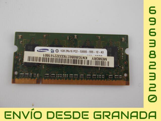 MEMORIA RAM 1 GB PC2-5300S SAMSUNG M470T2953EZ3-CE6 #19