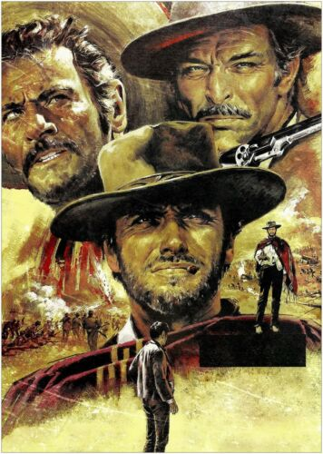 The Good The Bad and The Ugly Movie Large Poster Art Print Maxi A1 A2 A3 A4