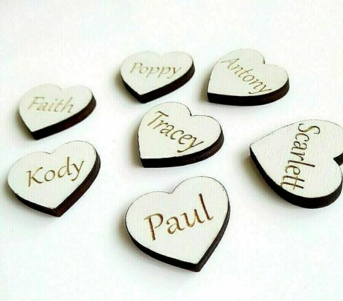 1Psc Size 3//5//7//9//10//15//20cm Personalised Wooden White Heart Family Tree Craft