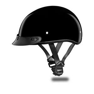 Brand new Daytona Helmet SKULL CAP JR-HI-GLOSS BLACK DOT Motorcycle Helmet CD1-A