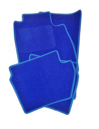 BLAUE LAGUNE Velours Matten Autoteppiche Fußmatten Blau SKODA FABIA I 1999-2008