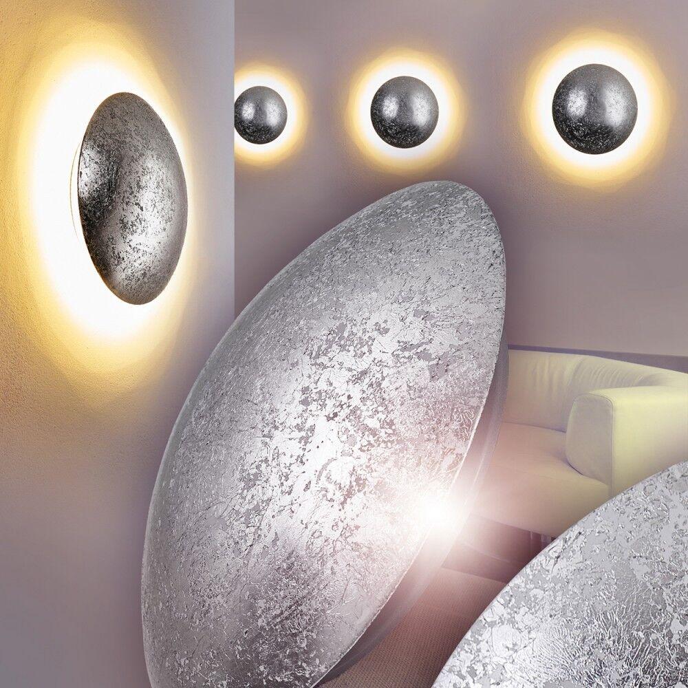 LED Design Wandleuchte Flur Leuchten Wand Wandlampe Wohn Zimmer silberfarben | Lebhaft