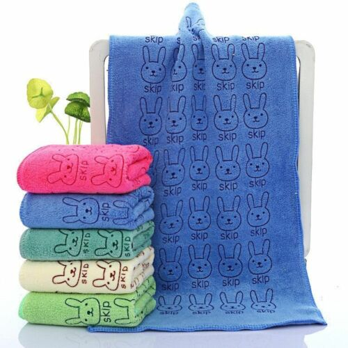 Jacquards Woven Children Face Towels Microfiber Hair Hand Bathroom Printed Towel