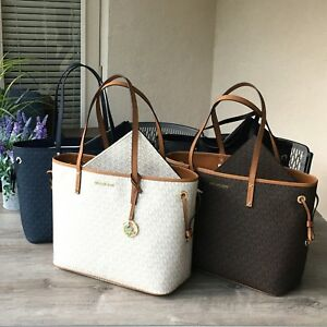 02598ee5a10f NWT Michael Kors 2 IN 1 Jet Set Travel Large Drawstring Tote ...