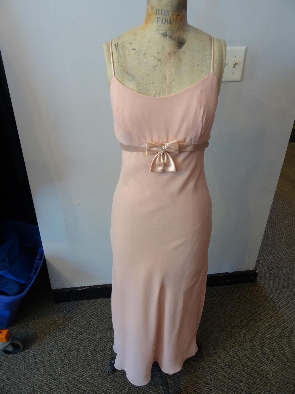 Gunne Sax Pink Formal Sleeveless Dress, Empire Wa… - image 3